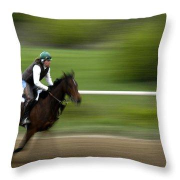 Intense Training Throw Pillow by Randall Branham