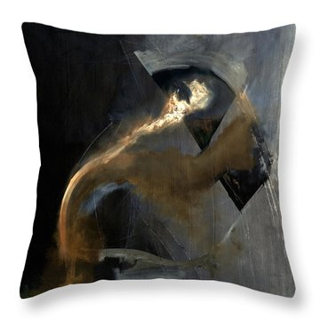 Intensity Throw Pillow by Antonio Ortiz