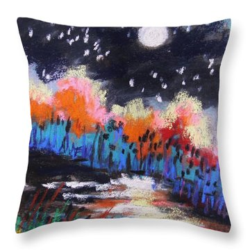 Throw Pillow featuring the painting Intensity by John Williams