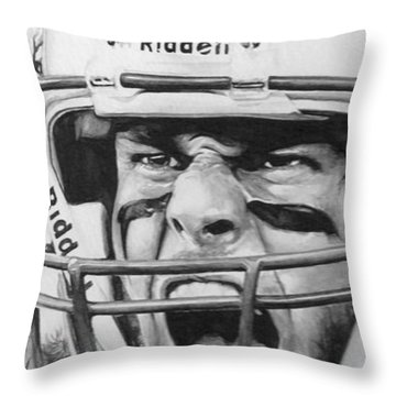 Intensity Tom Brady Throw Pillow