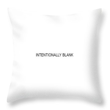Intentionally Blank Throw Pillow
