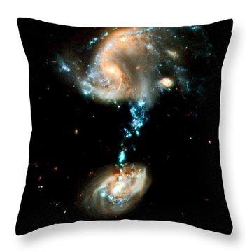 Interacting Galaxies Group Arp 194 Throw Pillow by Amanda Struz