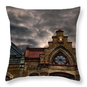 Interesting Architecture  Throw Pillow by Thomas Young