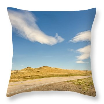 Interesting Clouds In Big Sky Country Throw Pillow