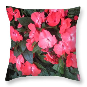 Throw Pillow featuring the photograph Interior Decorations Butterfly Garden Flowers Romantic At Las Vegas by Navin Joshi