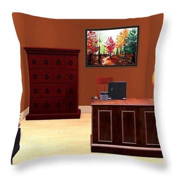 Interior Design Idea - Autumn Throw Pillow by Anastasiya Malakhova