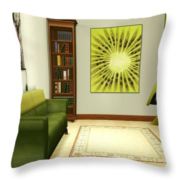 Interior Design Idea - Kiwi Throw Pillow by Anastasiya Malakhova