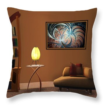 Interior Design Idea - Metal Forest Throw Pillow by Anastasiya Malakhova