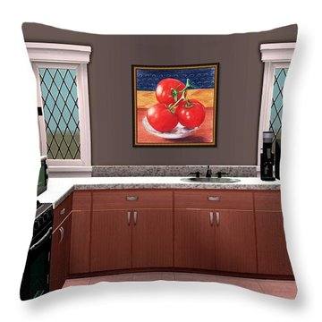 Interior Design Idea - Tomatoes Throw Pillow by Anastasiya Malakhova