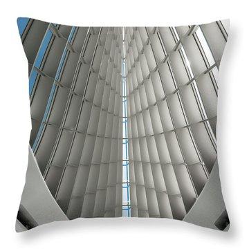 Interior Milwaukee Art Museum Throw Pillow