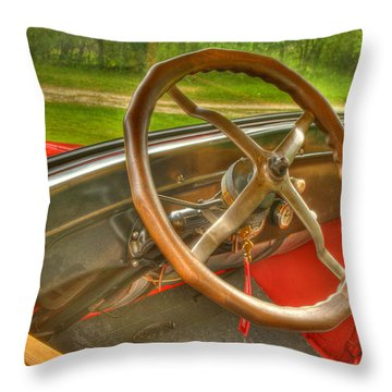 Interior Of A 1926 Model T Ford Throw Pillow by Thomas Young