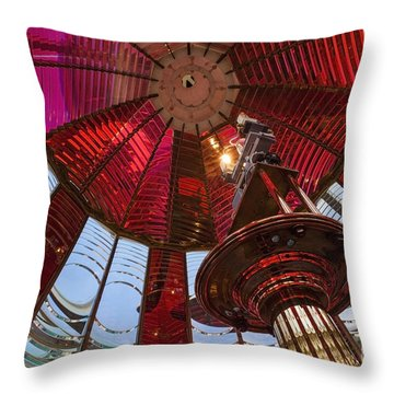 Throw Pillow featuring the photograph Interior Of Fresnel Lens In Umpqua Lighthouse by Bryan Mullennix