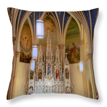 Interior Of St. Mary's Church Throw Pillow by Mark Dodd
