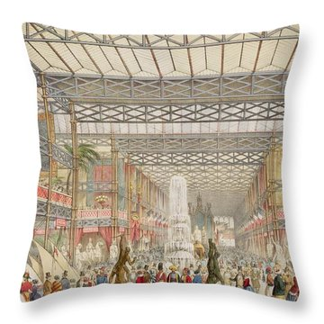 Interior Of The Crystal Palace, Pub Throw Pillow by Augustus Butler