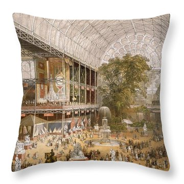 Interior Of The Internation Exhibition Throw Pillow