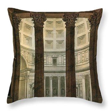 Interior Of The Pantheon, Rome Throw Pillow