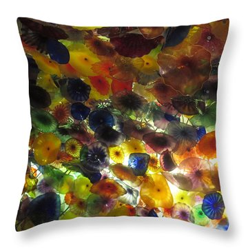 Throw Pillow featuring the photograph Interior Roof Decorations Casino Hotel Resorts Las Vegas by Navin Joshi