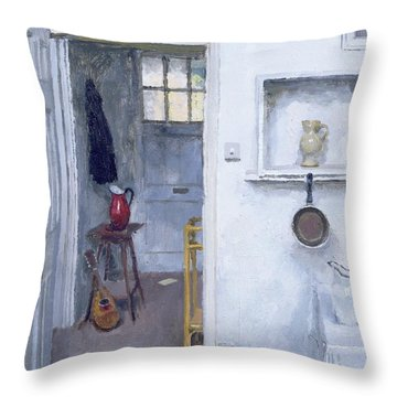 Interior With Red Jug Throw Pillow by Charles E Hardaker