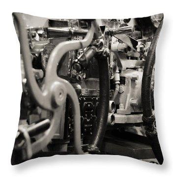 Internal Mechanics Uss Bowfin Throw Pillow by Douglas Barnard