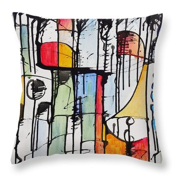 Internal Opposition Throw Pillow by Jason Williamson