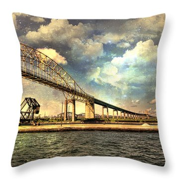 International Bridge Sault Ste Marie Throw Pillow