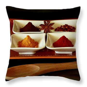 International Flair  Spice It Up Throw Pillow by Inspired Nature Photography Fine Art Photography