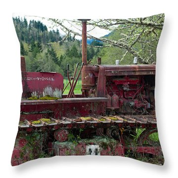 International Harvester Throw Pillow by Tikvah's Hope