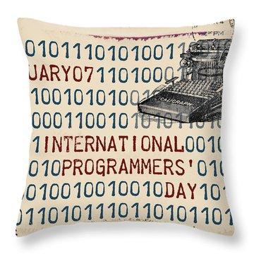 International Programmers' Day January 7 Throw Pillow