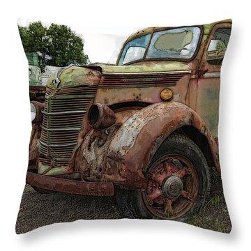 International Rust Throw Pillow