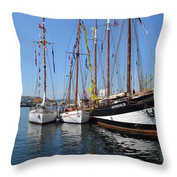 International Sailing Festival In Bergen Norway 2 Throw Pillow