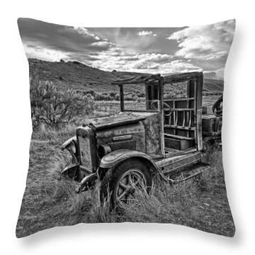 International Truck In High Desert Throw Pillow