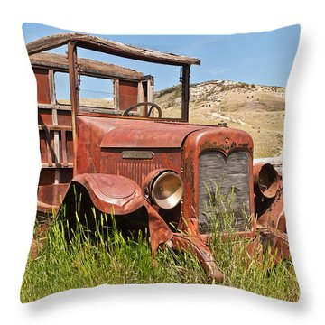 Throw Pillow featuring the photograph International Truck by Sue Smith