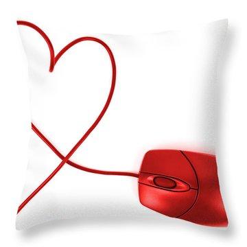 Internet Love Throw Pillow