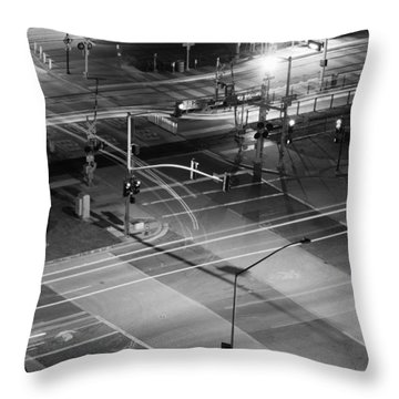 Throw Pillow featuring the photograph Intersection by Heidi Smith