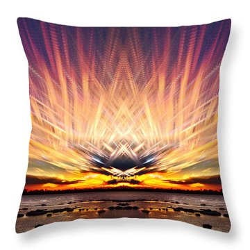 Intersections In The Sky Throw Pillow