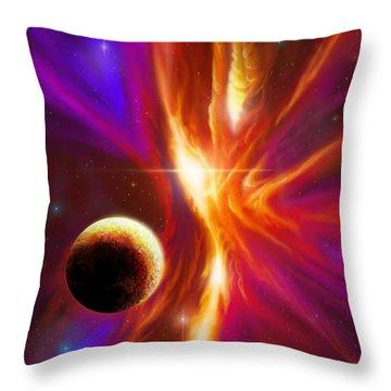 Intersteller Supernova Throw Pillow by James Christopher Hill