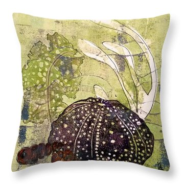 Intertidal Throw Pillow by Cynthia Lagoudakis