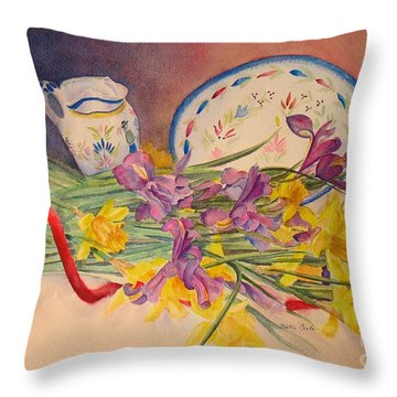 Intertwined Throw Pillow by Beatrice Cloake