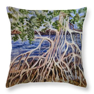 Intertwined Throw Pillow by Roxanne Tobaison