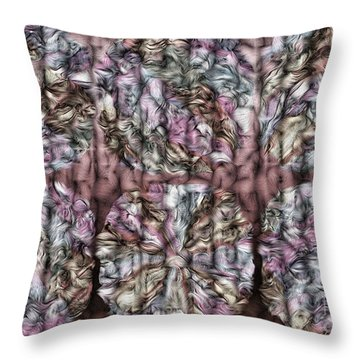 Interwine Throw Pillow by Mo T
