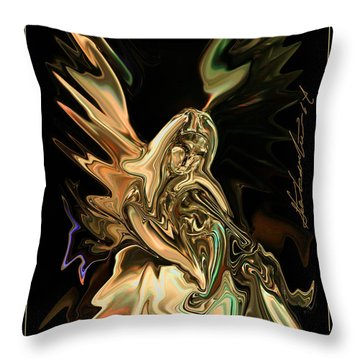 In The Arms  Free To All Throw Pillow