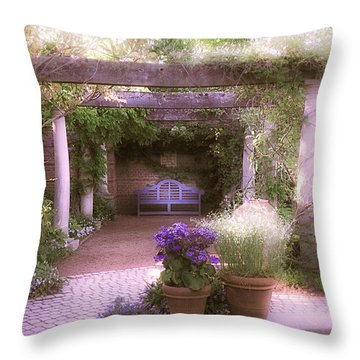 Intimate English Garden Throw Pillow