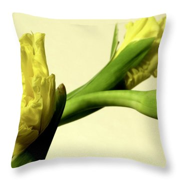 Intimate Unfurling Throw Pillow by Deborah  Crew-Johnson