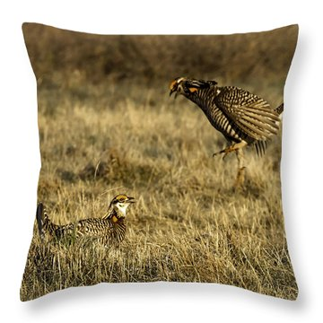 Intimidating Jump Throw Pillow by Thomas Young