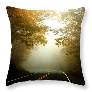 Into A Cloud Throw Pillow by Carlee Ojeda