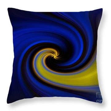 Throw Pillow featuring the digital art Into Blue by Trena Mara