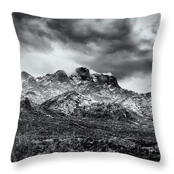 Throw Pillow featuring the photograph Into Clouds by Mark Myhaver
