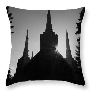 Into Eternity Throw Pillow by Nick  Boren