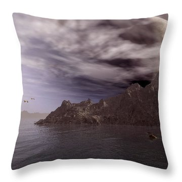 Into Other Worlds Throw Pillow by Julie Grace