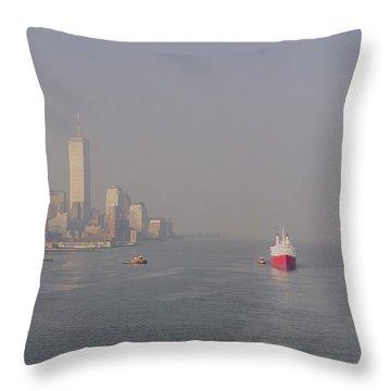 Into Port Throw Pillow by Joann Vitali